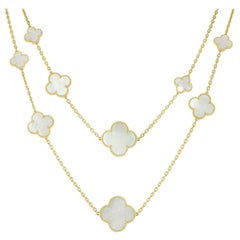 Van Cleef and Arpels Magic Alhambra 16 Motif Long Necklace
