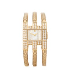 Van Cleef and Arpels Triple Bracelet Diamond Yellow Gold