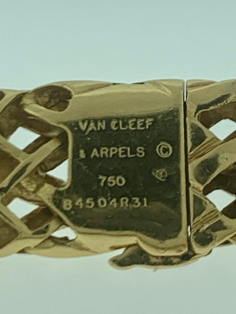 Van Cleef & Arpels Necklace and Earrings Bridal Suite 128 Grams 18k Gold, Estate For Sale 6