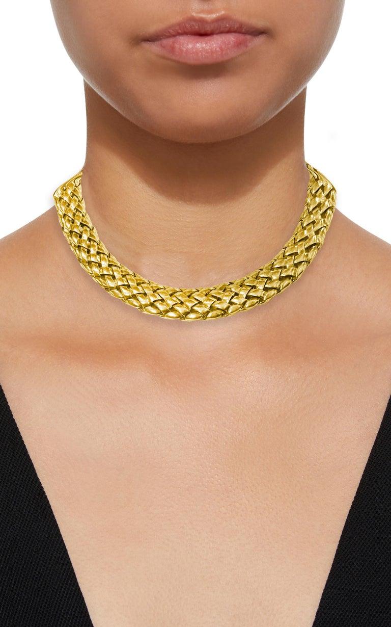 Van Cleef & Arpels Necklace and Earrings Bridal Suite 128 Grams 18k Gold, Estate For Sale 1
