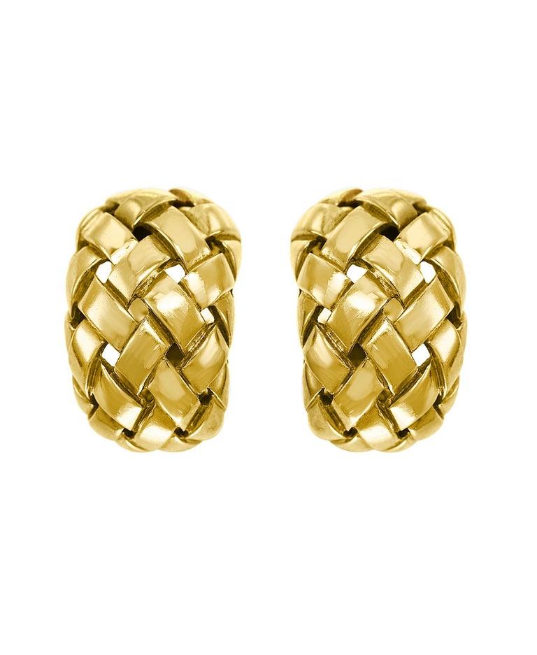 Van Cleef & Arpels Necklace and Earrings Bridal Suite 128 Grams 18k Gold, Estate For Sale 3