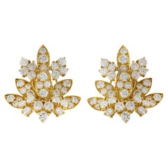 Van Cleef & Arpels 18 Karat Diamonds Leaf Earrings