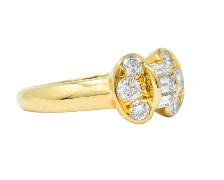 Contemporary Van Cleef & Arpels 0.60 Carat Diamond 18 Karat Yellow Gold Bow Ring