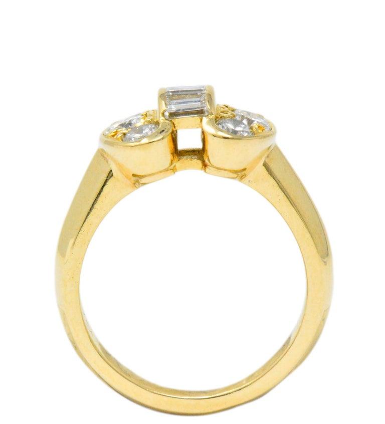 Van Cleef & Arpels 0.60 Carat Diamond 18 Karat Yellow Gold Bow Ring In Excellent Condition In Philadelphia, PA
