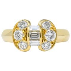 Van Cleef & Arpels 0.60 Carat Diamond 18 Karat Yellow Gold Bow Ring