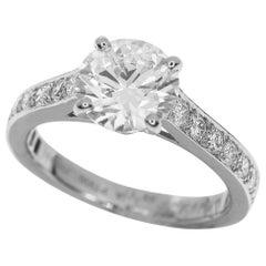 Van Cleef & Arpels 1.50 Carat GIA Diamond Platinum Romance Solitaire Ring