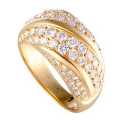 Van Cleef & Arpels 1.65 Carat Diamond Pave Gold Band Ring