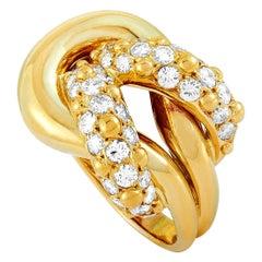 Van Cleef & Arpels 1.70 Carat Diamond Yellow Gold Ring