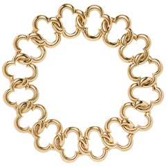 Van Cleef & Arpels 18 Karat Gold Alhambra Collar Necklace
