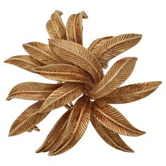 Van Cleef & Arpels, 18 Karat Gold Feather Brooch, circa 1965