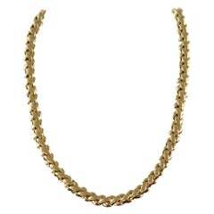 Van Cleef & Arpels 18 Karat Solid Gold Ladies Necklace, France / Paris, 1990s