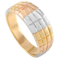 Van Cleef & Arpels 18 Karat Tricolor Textured Band Ring