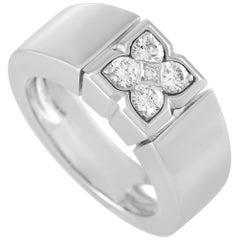 Van Cleef & Arpels 18 Karat White Gold 0.40 Carat Diamond Ring