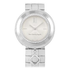 Van Cleef & Arpels 18 Karat White Gold Alhambra Charms Watch 3572114