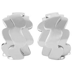 Van Cleef & Arpels 18 Karat White Gold Earrings