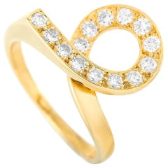 Van Cleef & Arpels 18 Karat Yellow Gold 0.30 Carat Diamond Ring