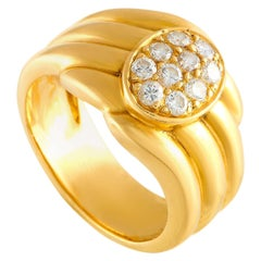 Van Cleef & Arpels 18 Karat Yellow Gold 0.44 Carat Diamond Ring