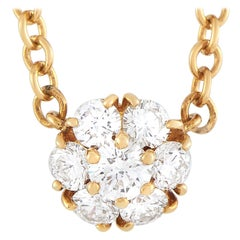 Van Cleef & Arpels 18 Karat Yellow Gold 0.50 Carat Diamond Necklace