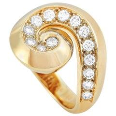 Van Cleef & Arpels 18 Karat Yellow Gold 0.85 Carat Diamond Ring