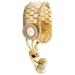 Van Cleef & Arpels 18 Karat Yellow Gold and Diamond Bracelet Watch HH1660