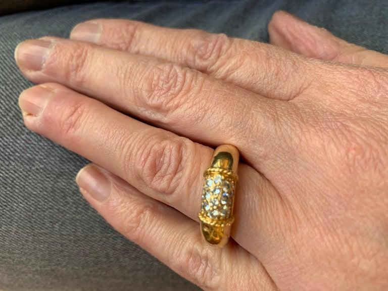 Retro Van Cleef & Arpels 18 Karat Yellow Gold and Diamonds Philippine Ring For Sale