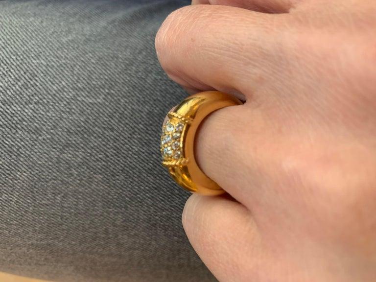 Brilliant Cut Van Cleef & Arpels 18 Karat Yellow Gold and Diamonds Philippine Ring For Sale