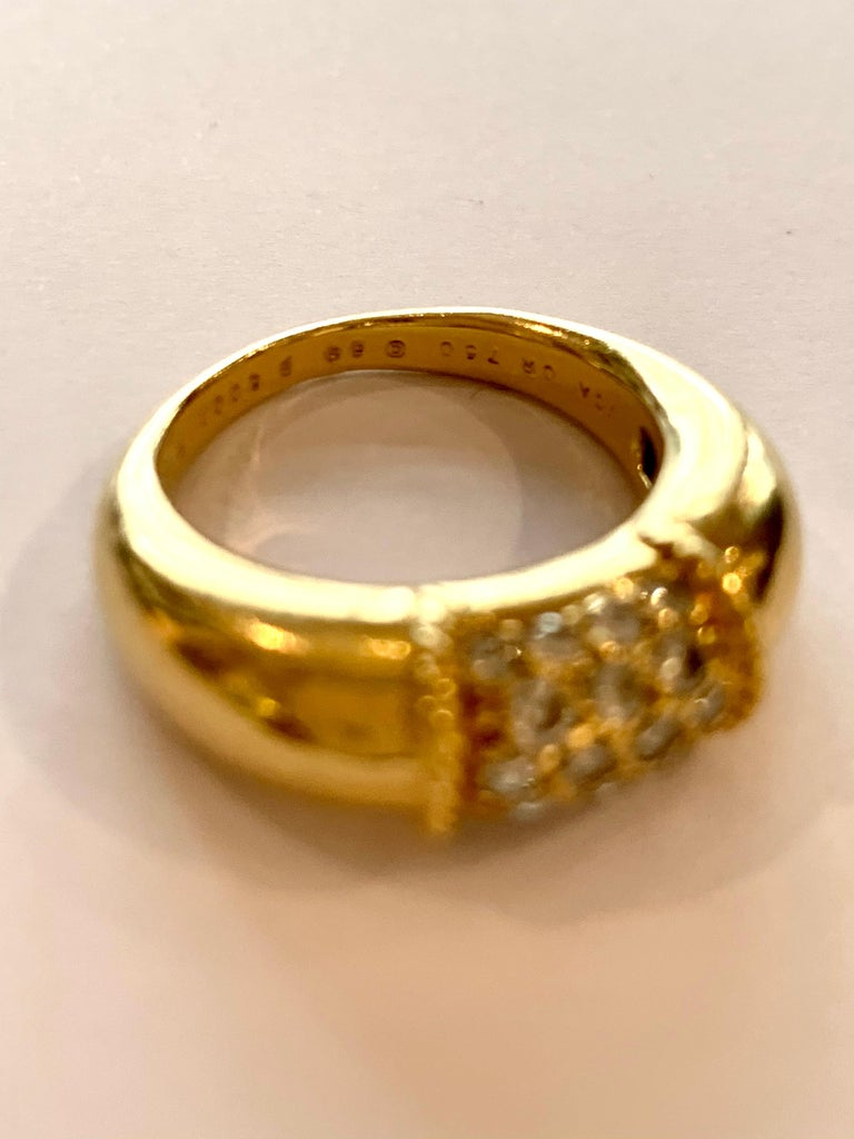 Van Cleef & Arpels 18 Karat Yellow Gold and Diamonds Philippine Ring In Excellent Condition For Sale In Paris, FR