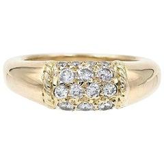 Van Cleef & Arpels 18 Karat Yellow Gold and Diamonds Philippine Ring
