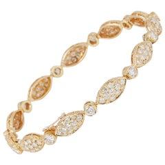 Van Cleef & Arpels 18 Karat Yellow Gold Diamond Bracelet