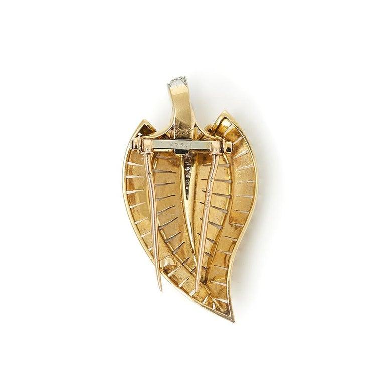 Van Cleef & Arpels 18 Karat Yellow Gold Diamond Vintage Brooches For Sale 1
