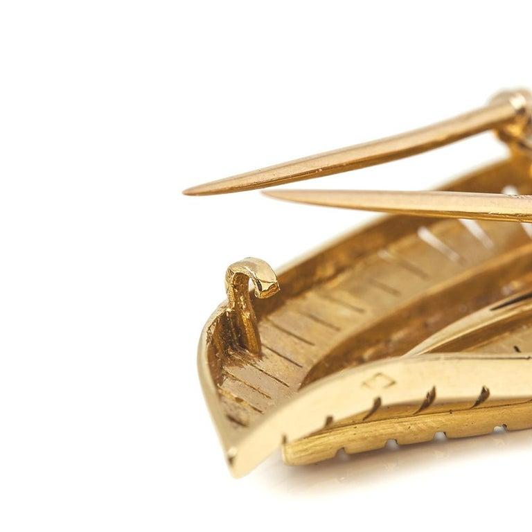 Van Cleef & Arpels 18 Karat Yellow Gold Diamond Vintage Brooches For Sale 3