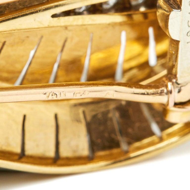Van Cleef & Arpels 18 Karat Yellow Gold Diamond Vintage Brooches For Sale 4