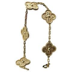 Van Cleef & Arpels 18 Karat Yellow Gold Leaf Bracelet