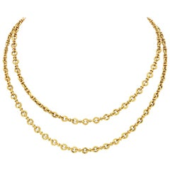 Van Cleef & Arpels 18 Karat Yellow Gold Link Chain Necklace
