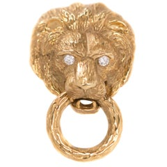 Van Cleef & Arpels 18 Karat Yellow Gold Lion Brooch, 1960s