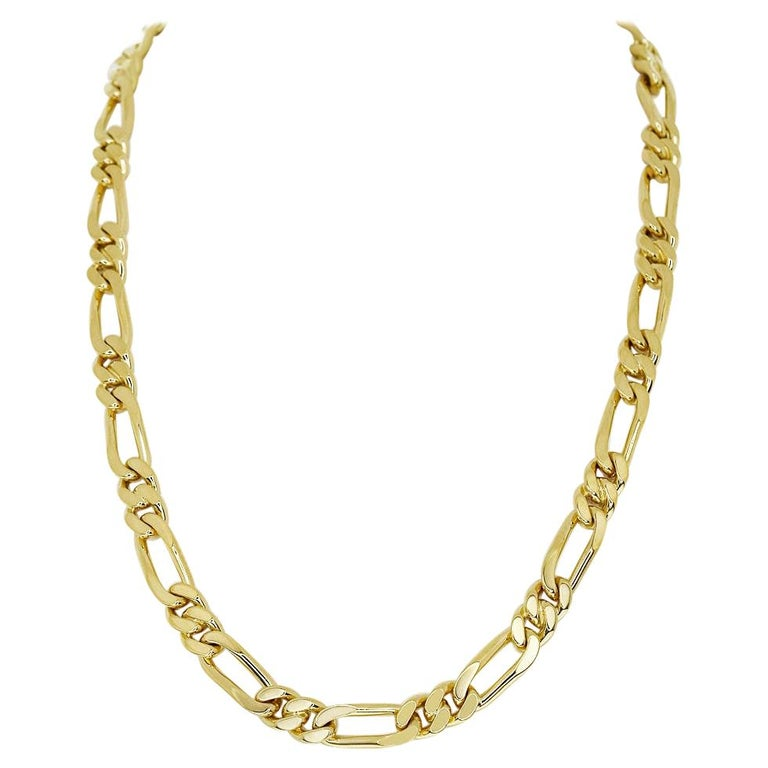 Van Cleef & Arpels 18 Karat Yellow Gold Long Chain Gold Necklace 129.7g For Sale