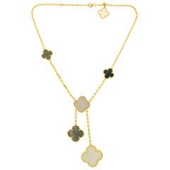 Van Cleef & Arpels 18 Karat Yellow Gold Magic Alhambra 6 Motif Necklace