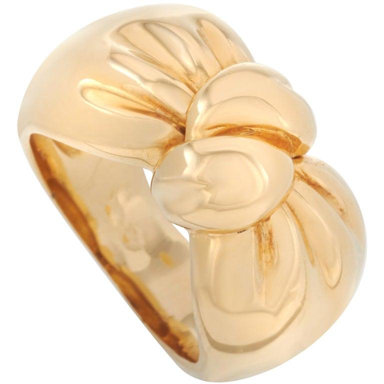 Van Cleef & Arpels 18 Karat Yellow Gold Turban Band Ring For Sale