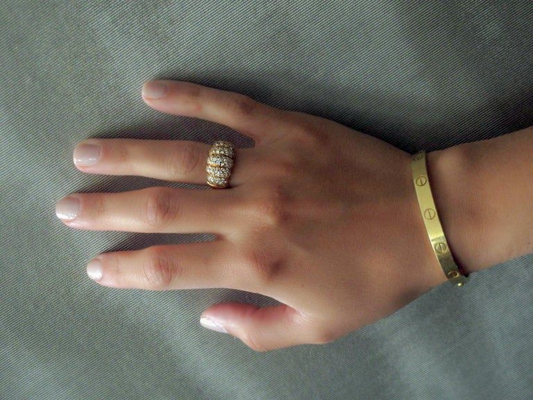 Van Cleef & Arpels 18k Gold and Diamond Ring In Good Condition For Sale In New York, NY