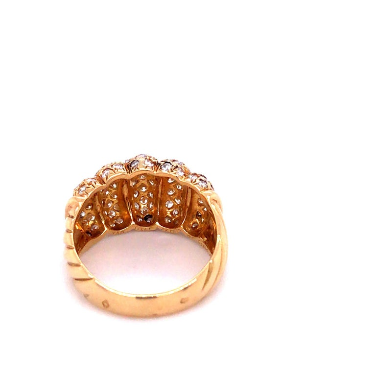 Van Cleef & Arpels 18k Gold and Diamond Ring For Sale 1