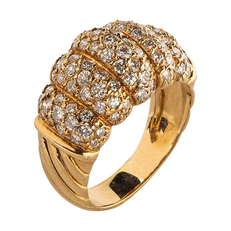 Van Cleef & Arpels 18k Gold and Diamond Ring For Sale