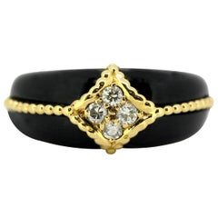 Van Cleef & Arpels, 18 Karat Gold Diamond and Onyx Ring