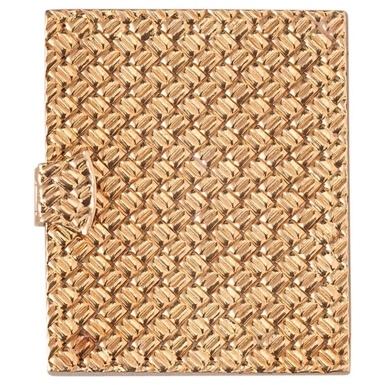 Van Cleef & Arpels 18k Gold Photo Frame For Sale
