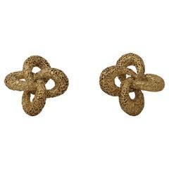 """Van Cleef & Arpels, 18k Gold """"Trefoil"""" Earrings, 1969, by André Vassort"""