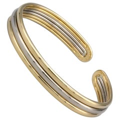 Van Cleef & Arpels 18k White and Yellow Gold Cuff Bracelet