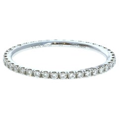 Van Cleef & Arpels 18k White Gold Félicité Eternity Diamond Band Box