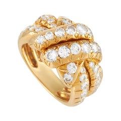 Van Cleef & Arpels 18k Yellow Gold 1.75 Ct Diamond Ring