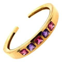 Van Cleef & Arpels 18k Yellow Gold Bracelet with Gem Stones
