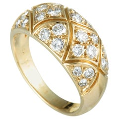 Van Cleef & Arpels 18 Karat Yellow Gold Diamond Band Ring