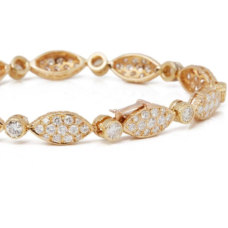 Contemporary Van Cleef & Arpels 18 Karat Yellow Gold Diamond Bracelet For Sale
